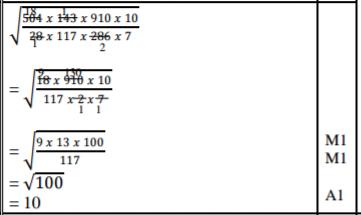 Mathematics Paper 1 Marking Scheme - 2015 KCSE Machakos